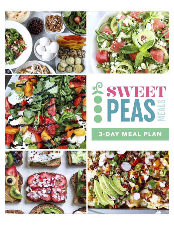 Sweet Peas Meals 3 Day Preview